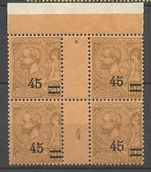 MONACO Surchargés N° 70 Millésime 4 Gom D'origine NEUF**  SANS CHARNIERE  / MNH - Unused Stamps