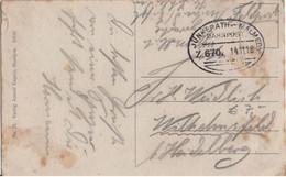 ALLEMAGNE REICH BELGIQUE FRANCHISE MILITAIRE RARE CACHET AMBULANT JUNKERATH MALMEDY SUR CARTE POSTALE - Briefe U. Dokumente