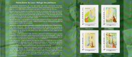 """Bloc / Feuillet 4 Timbres Collector """" Le Sanctuaire Notre Dame Du Laus """" - Collectors"""