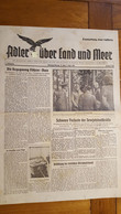 ADLER UBER LAND UND MEER 01 SEPTEMBRE 1941 JOURNAL ALLEMAND DOUBLE PAGE - 1939-45