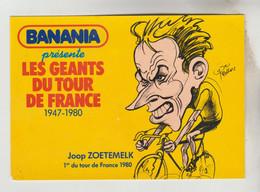 2 CPSM SPORTS CYCLISME ILLUSTRATEUR PELLOS PUB. BANANIA - TOUR DE FRANCE Jean ROBIC 1° En 1947, Joop ZOETEMELK 1° En1980 - Ciclismo