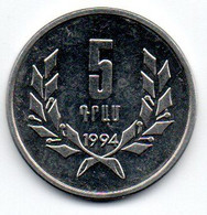 Arménie -  5 Drams 1994 - SPL - Armenia