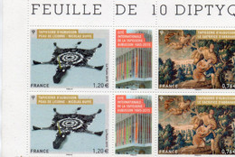 """Timbres N° 4999 / 5000 - 2 Diptyques """" Tapisserie D ' Aubusson """" - Nuovi"""