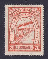 Denmark Local Railway Parcel Stamp FJERRITSLEV Train Locomotive - Trains
