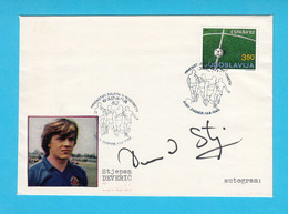 STJEPAN DEVERIC - Yugoslavian Football Team BRONZE MEDAL On Olympic Games 1984 * ORIGINAL AUTOGRAPH Autographe Autogramm - Handtekening