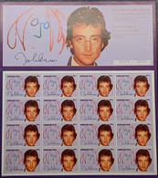 Azerbaijan, 1995, Michel 276, The 15th Anniversary Of The Death Of John Lennon, Sheet Of 16v, MNH - Muziek