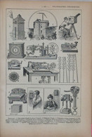 LE TÉLÉGRAPHE ET LE TÉLÉPHONE + Alphabet Télégraphique Morse. 2 Gravures Tirées Du Petit Larousse Illustré De 1923. - Non Classificati