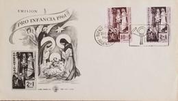 A) 1961, ARGENTINA, BIBLE IMAGES, FDC, PRO CHILDHOOD ISSUE, BUENOS AIRES - Oblitérés