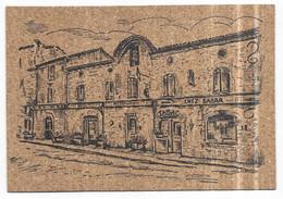 "Les Cabannes Carte En Liège Hotel Restaurant Bar Tabac "" Chez Babar "" Impr. G. Boutet. 47230 Lavardac - Other Municipalities"