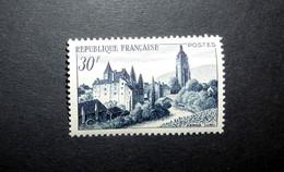 FRANCE 1951 N°905 ** (ARBOIS, JURA. 30F BLEU-NOIR) - Nuovi