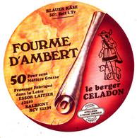 Z 559 /   ETIQUETTE DE   FROMAGE -FOURME D'AMBERT    LE BERGER CELADON    LOIRE - Formaggio