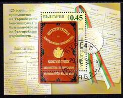 BULGARIA 2004  Constitution 125th Anniversary Block Used.   Michel Block 263 - Gebraucht