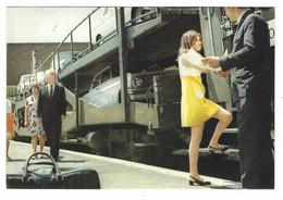 8036 - FERROVIE ITALIANE DELLO STATO TRENI AUTO CUCCETTE TRENO TRAIN 1970 CIRCA - Trains