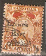 British East Africa  1897   SG  83  4,1/2 Annas  Overprinted Zanzibar Stamps  Fine Used - Brits Oost-Afrika