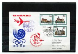 DDR, 1988, Luftpostbrief (Ganzsache), Ol.-Spiele Seoul - Brieven
