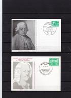 DDR, 1981/1988, 2 Ganzsachenkarten, Sonderstempel, Bach/Telemann - Privé Postkaarten - Gebruikt