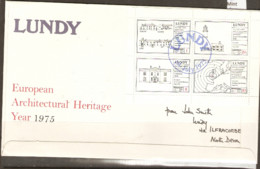 Lundy   1975  European Archirectual Heritage  F D C  Addressed To The Earl Of Antrim - Emisiones Locales