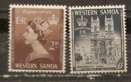 Samoa   1953  SG  239-40  Coronation   Mounted Mint - Samoa