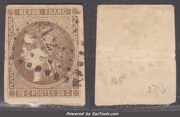 30c Bordeaux Brun Clair Oblitération Ambulants (Y&T N° 47a, Cote 300€) - 1870 Emisión De Bordeaux
