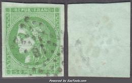 5c Bordeaux Oblitéré Ambulants Aspect TB (Y&T N° 42B, Cote 280€ ) - 1870 Bordeaux Printing