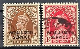 PATIALA 1940-45 - Canceled - Sc# O64, O67 - Patiala
