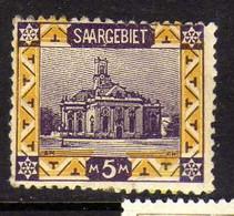 Sarre (1921) -  5 M. Eglise Saint_Louis - Neuf* - MH - Ongebruikt