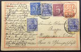 ALLEMAGNE / DEUTSCHLAND 1922 (21.5) Mi.149aII (x3), 158 & 168 Auf Postkarte Mi.P141.I Aus St. Blasien Nach Frankreich - Lettres & Documents