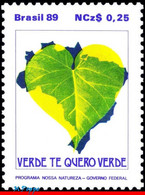 Ref. BR-2165 BRAZIL 1989 NATURE, ENVIRONMENTAL, CONSERVATION, MAPS, PLANTS, MI# 2294,MNH 1V Sc# 2165 - Nuevos