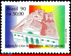 Ref. BR-2255 BRAZIL 1990 JOINT ISSUE, WITH FRANCE, ARCHITECTURE, ,FRANCE-BRAZIL HOUSE, RJ, MI# 2369, MNH 1V Sc# 2255 - Nuevos