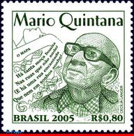 Ref. BR-2962 BRAZIL 2005 FAMOUS PEOPLE, MARIO QUINTANA, POET,, WHITER, MNH 1V Sc# 2962 - Escritores