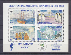 AUSTRALIA: BICENTENNIAL ANTARCTIC EXPEDITION. 1988  BLOCK. MNH - Ungebraucht