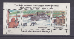 AUSTRALIA: 1986, RESTORATION OF MAWSON'S HUT.  BLOCK. MNH - Ungebraucht