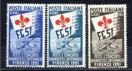 ITALIA  REPUBBLICA  1951-CONCORSI GINNICI == MNH** - 1946-60: Mint/hinged
