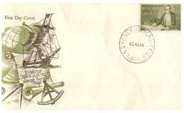 (CC 30 Large) Australia FDC - Captain Cook (scrace Cover) 1964 (WCS Cover) - Explorers