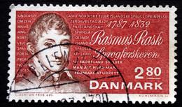 Denmark 1987   MiNr.903   Language Researcher Rasmus Rask ( Lot  A 1288 ) - Usado