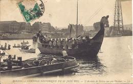 Rouen, Cortege Historique Du 11 Juin 1911, L'arrivee De Rollon Sur Son Drakar - Rouen