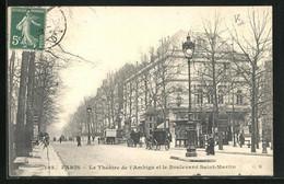 CPA Paris, Le Théâtre De L`Ambigu Et Le Boulevard Saint-Martin - Unclassified