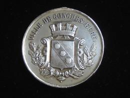 Médaille En Argent Ville De CONCHES (Eure) - Concours Musical -17 Septembre 1876   **** EN ACHAT IMMEDIAT **** - Firma's