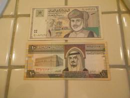 OMAN  -  ARABIA  1  AND 10  RIALS - Oman