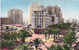 Maroc : CASABLANCA : Le Boulevard Du 4é Zouave Et La Rue Foucault : C.p.s.m.- Photo Vérit. - Casablanca