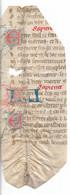 Fragment De Parchemin 13e/14e Avec Lettrines Ornées - Manoscritti