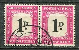 Union Of South Africa Postage Due, Südafrika Portomarken Mi# 35 Gestempelt/used - Pair - Segnatasse