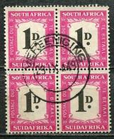 Union Of South Africa Postage Due, Südafrika Portomarken Mi# 35 Gestempelt/used - 4block - Segnatasse