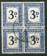 Union Of South Africa Postage Due, Südafrika Portomarken Mi# 37 Gestempelt/used - 4block - Segnatasse