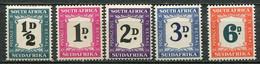 Union Of South Africa Postage Due, Südafrika Portomarken Mi# 34-38 Postfrisch/MNH - Segnatasse