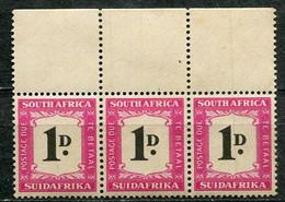 Union Of South Africa Postage Due, Südafrika Portomarken Mi# 35 Postfrisch/MNH - 3strip - Segnatasse
