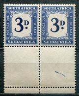 Union Of South Africa Postage Due, Südafrika Portomarken Mi# 37 Postfrisch/MNH - Pair - Segnatasse