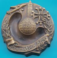 Cendrier Aérospatiale En Bronze Promotion 88-89 Décoratif - Otros