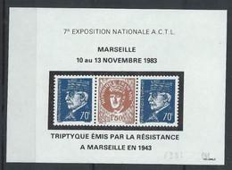 France Libération Marseille Fac-similé De L'ACTL De 1983 70c. Bleu Neuf Sans Charnière - XX - MNH - Liberación