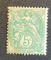 Timbre-poste Neuf * Dédéagh N°10 5c Vert-jaune Avec Trace De Charnière - Neufs